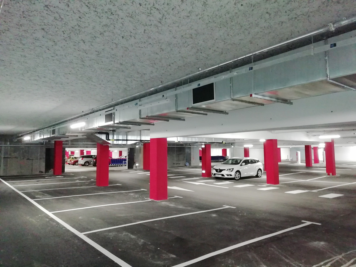 Désenfumage parking Carrefour Plouzané